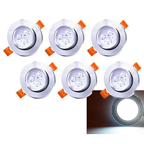 Hengda Foco Empotrable LED Blanco 6500K 3W Innovador Focos