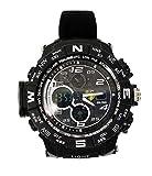Reloj Deportivo Analógico/Digital para Hombre, para Uso al Aire Libre o al Hacer Ejercicio LED y Alarma