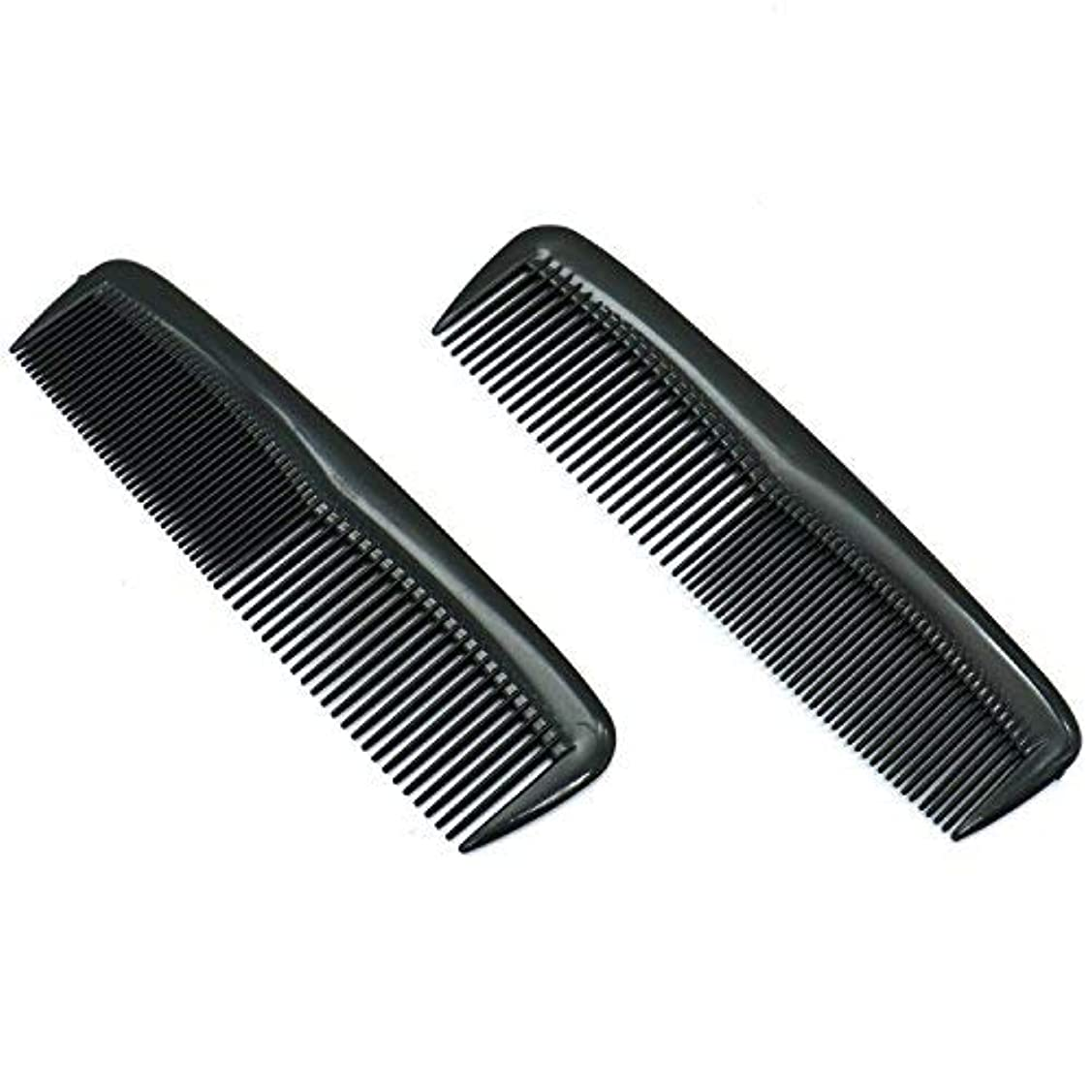 以降あたたかい証明するBuorsa Pack of 12 Quality Pocket Hair Comb Beard & Mustache Combs for Men's Hair Beard Mustache and Sideburns, Durable Plastic, Black [並行輸入品]