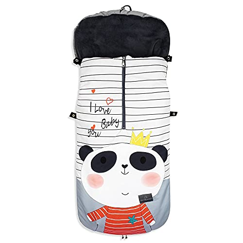 Saco de Silla de Paseo UNIVERSAL-INVIERNO-IMPERMEABLE (Panda)