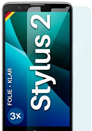 moex [3 Stück] Schutzfolie kompatibel mit LG Stylus 2 Bildschirmfolie Hüllen-Fre&lich, 0.2 mm dünne Bildschirmschutzfolie, Display Schutz extra Kratzfest - HD Ultra-Klar