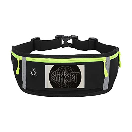 Slipknot Logo bolsas impermeables y riñoneras para mujeres, hombres, senderismo, correr, viajes, perro, lobo, cintura para mujeres, hombres, mujeres, niños, impermeable, para deportes al aire libre