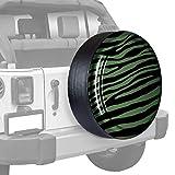 LREFON Repuesto Cubierta de neumático 14'-17' Estampado de Cebra en Color acoplado rígido Cubierta Ligera para Autos de Repuesto