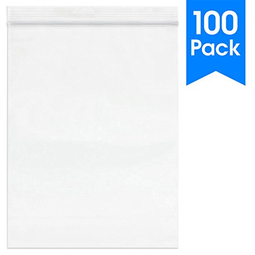 "Spartan Industrial || 100 Count - 9"" X 12"" - 2 Mil Clear Plastic Reclosable Zip Poly Bags with Resealable Lock Seal Zipper (More Sizes Available)"