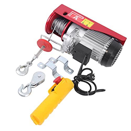 Samger Polipastos Electricos 220V Cabestrante Eléctrico 300/600KG 1200W Elevador Electrico con Mando...