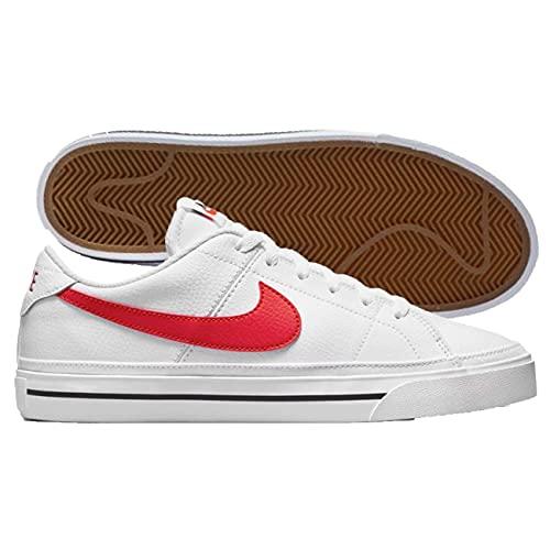 Nike Court Legacy, Zapatillas Deportivas Hombre, White University Red Black, 42.5 EU