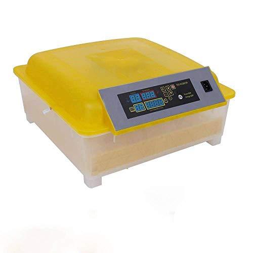 EBTOOLS Incubadora de 48 Huevos / 156 Huevos de Codorniz Torneado Automático de Huevos Temperatura Ajustable Visualización de Días Temperatura Humedad