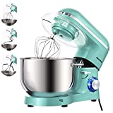 Aucma Stand Mixer, 1400W Food Mixer with 6.2 L Stainless Steel Mixing Bowl, 6 Speed Tilt-Head Stand Mixers for Baking (Blue)