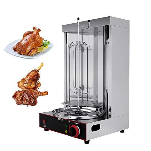 Refaa Shawarma Döner Kebab-Maschine, elektrische vertikale Grill-Grillmaschine mit 2 Brennern für die gewerbliche Küche zu Hause (Heizung durch elektrische)