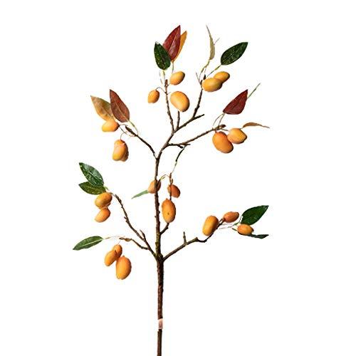 LHY- Gefälschte Blumen Künstliche Mango-Baum-Zweig Getrocknete Blumen-Blumenstrauß Wohnzimmer Hauptdekoration Blumenschmuck Dekoration Mode