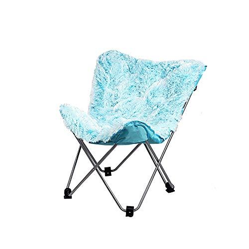 LI MING SHOP Butterfly Chaise Simple Loisirs Chaise Pliante Paresseux Canapé Chaise Chaise Arrière Chaise Inclinable Chaise De Lune Peut Supporter Le Poids 240 Kg (Color : Blue)