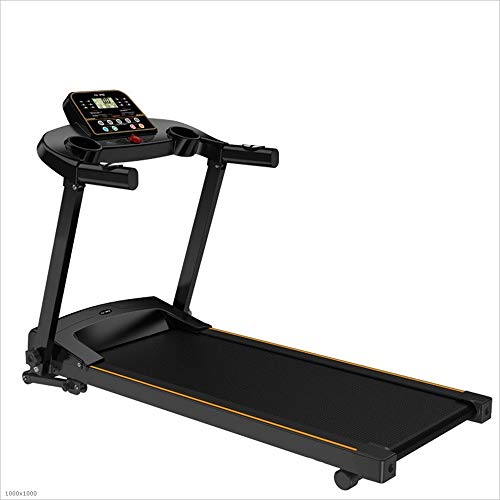 ChenYongPing Treadmill for Home Gym, Household Ultra-quiet Fitness Folding Single Function Free Installation Electric Treadmill Indoor Training Equipment (Color : Black, Size : 117x60x136cm)