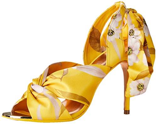 Ted Baker Damen RECALLA Sandale mit Absatz, gelb, 37 EU