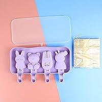 シリコーンアイスクリーム型DIYアイスキャリーカビリトルケークコイルの小型犬型金型アイスポップ型シリコーン-6