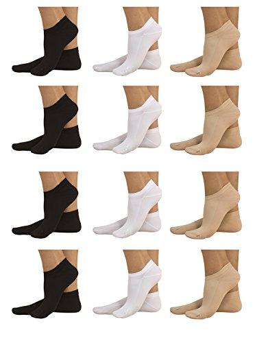 12 pares de calcetines tobilleros Unisex