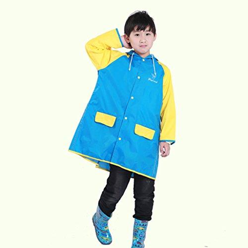 Vestes anti-pluie QFF Child Raincoat Boy Girl Student Poncho Protection de l'environnement sans goût (Taille : S)