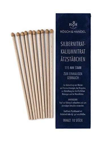 Silbernitrat-Kaliumnitrat Ätzstäbchen/ Ätzstift/ Lapisstäbchen 115mm 10 Stk.