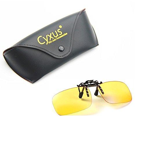 Cyxus filtro de luz azul (clip on) gafas de la computadora, bloqueo uv fatiga de ojos anti, para ordenador/teléfono celular/PC juego/tv (Tamaño estándar)
