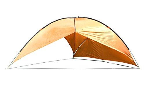 MONTIS Malibu Sonnensegel, Sonnenschutz & Strandezlt mit wasserdichtem Material als Wetterschutz-Segel, atmungsativ mit UV Schutz als Schattenspender & Schattensegel für Outdoor, Meer & Camping