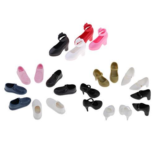 oshhni 13Pairs Cute 1/6 Dolls Plastic High Heel Shoes for Blythe Licca/Momoko/Azone