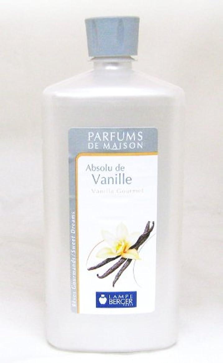 バイアス免除するパイプラインランプベルジェ フランス版 1000ml アロマオイル バニラ Absolu de Vanille