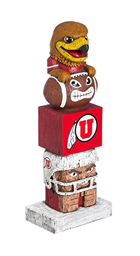 Team Sports America University of Utah Tiki Team Totem Garden Statue