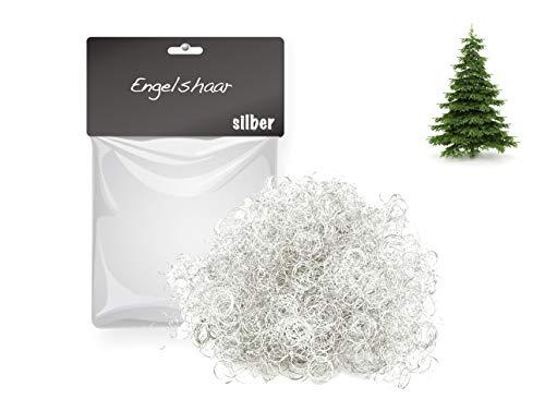 TK Gruppe Timo Klingler Engelshaar gelockt Lametta Silber für Weihnachten Advent Deko Dekoration (Silber)