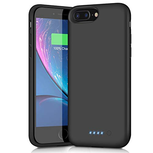 Battery Case for iPhone 6s Plus/6 Plus/7 Plus/8 Plus,8500mAh Portable Charging Case External Battery Pack for iPhone 6s Plus/6 Plus/7 Plus/8 Plus Rechargeable Charger Case Backup Power Bank(5.5 inch)