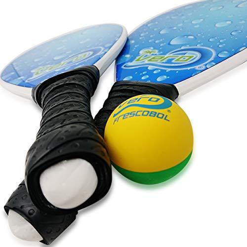 Frescobol Fiberglass Beach Paddle Ball Set, Official frescobol Ball, Beach Tote Bag