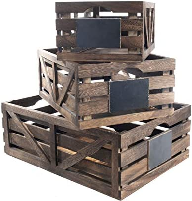 Premium Home Wooden Crates Home D cor wood crates for display wooden boxes for crafts decorative product image