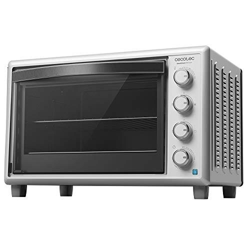 Cecotec Horno de sobremesa Bake&Toast 890 Gyro. 2200 W, Capacidad 60 litros, Cocina por convección, 12 Funciones, Incluye Rustidor Giratorio, Luz Interior, Puerta de Doble Cristal