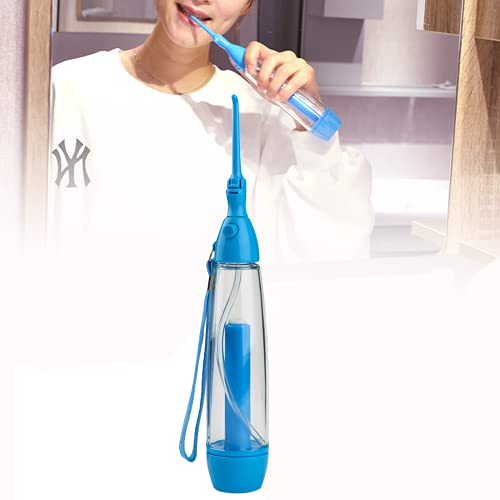 Portable Tonsil Stone Remover Kit Vacuum, Non-Electric Water Flosser Low-Pressure Oral Irrigator, Jet Flosser Manual Pump Type Tonsil Stone Removal Tool for Cleaning(Blue)