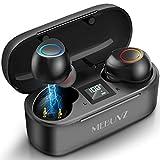 True Wireless Earbuds, MEBUYZ Bluetooth 5.0 Headphones with Qualcomm APTX Stereo Audio, CVC8.0 Noise Cancelling Built-in Mic in-Ear Earphones 32H Playtime with Charging Case Waterproof Sport Earpiece