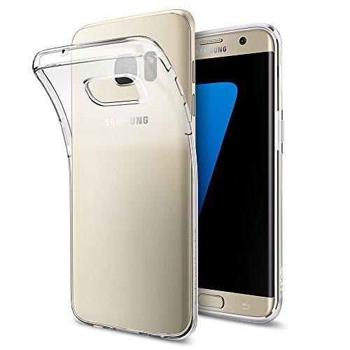 Spigen Coque Galaxy S7 Edge [Liquid Crystal] Premiunm TPU, Absorption du Choc, Transparente, Souple, Légère, Ajustement Parfait, Coque Compatible avec Samsung Galaxy S7 Edge