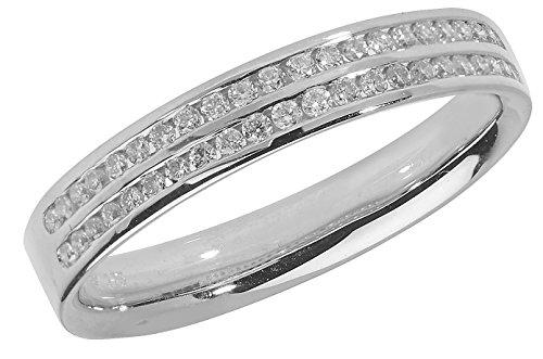 18ct White Gold Half Eternity Diamond Ring Brilliant Cut 0.22 Carat HI - SI WJS1502118KW