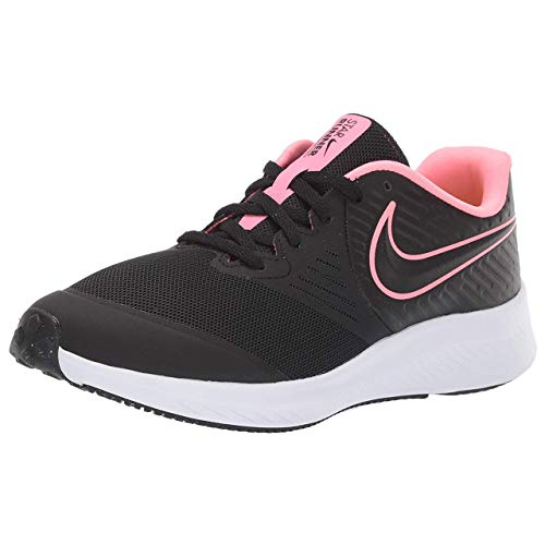 Nike Unisex Star Runner 2 (GS) Sneaker, Schwarz (Black/Sunset Pulse-Black-White 002), 38 EU