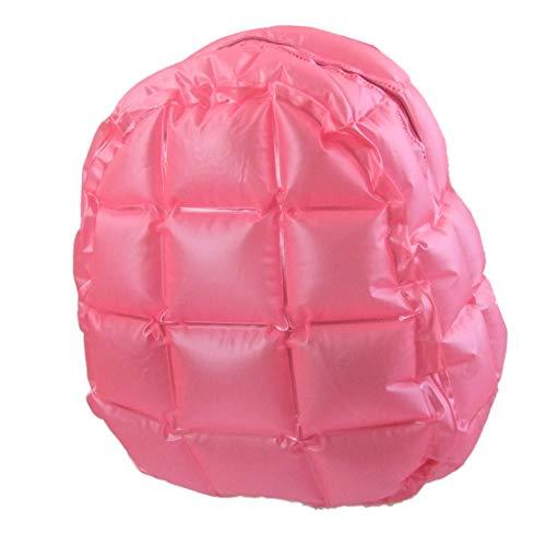 Trendiger Rucksack, aufblasbar, Retro, bunt, 90´s, Tasche, Beutel (Rosa)