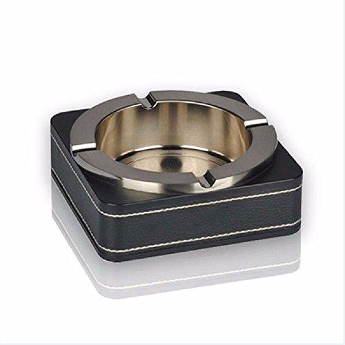 HQLCX Cendrier Noble Silver Fumer Tasse De Style Européen Metal Cendrier, 11,9 * 11,9 * 4 Cm