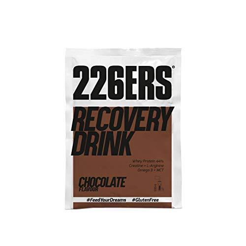 226ERS Recovery Drink Monodosis, Recuperador Muscular con Proteína, Creatina, Hidratos de Carbono, Triglicéridos y L-Arginina, Chocolate - 15 unidades x 50 gr