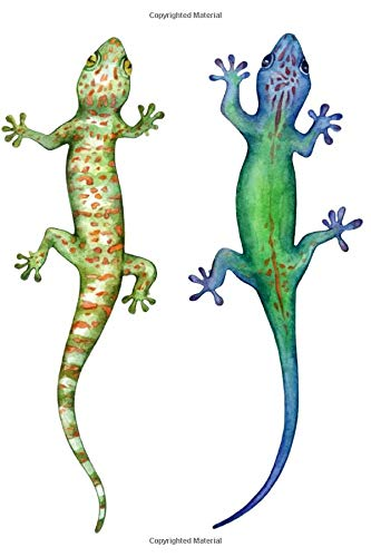 Notebook: for gecko and lizard lovers, blue and green