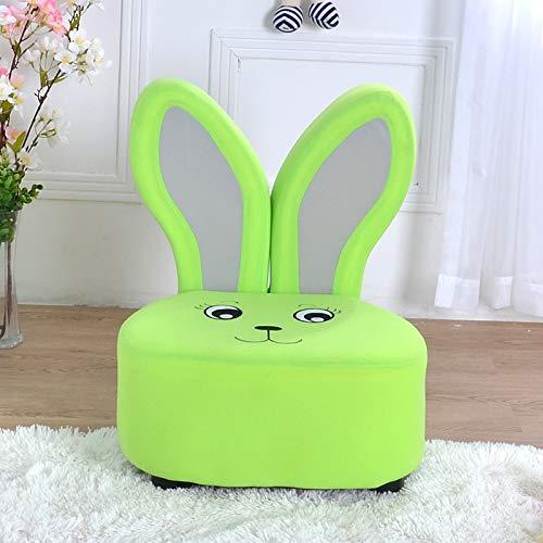 De sofa-stoel van de kinderen, de kleine bank van leuke konijnensofakind-bankkruk leert groen