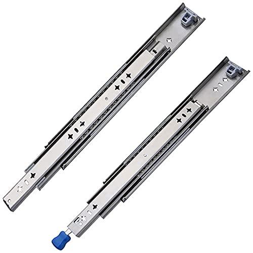 ZBYL Guías para cajones correderas para cajones, Montaje Lateral de extensión Completa de 3 Pliegues, Capacidad de Carga de 120 kg, 1 par