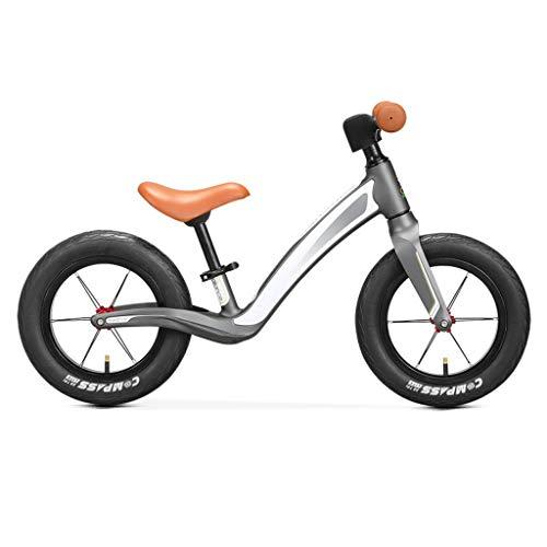 ZHAN YI SHOP Balance Bike for Kleinkinder Und Kinder, Verstellbarer Sitz, Kindertrainingsfahrrad Mit Gummi-Luftreifen, for Kleinkinder 2 Jahre Bis 5 Jahren Strider Bike (Farbe : Grau)