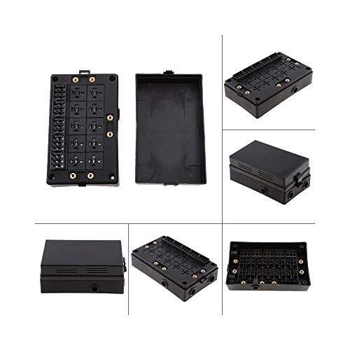 QCBXSLLL Kfz-Sicherungshalter Relaissockel Black Box 18-Wege-Sicherungshalter Kfz-Kfz-Versicherungfür Kfz-Marine