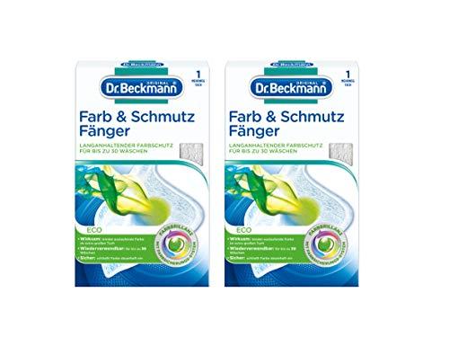 Dr. Beckmann Farb & Schmutzfänger Eco Mehrwegtuch, 2er Pack (2x 1 Stück) | langanhaltender Farbschutz für bis zu 30 Wäschen