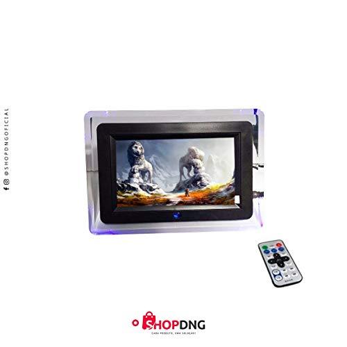 Porta Retrato Digital Tela 7 Controle Remoto USB SD Pendrive MAX-703 Lelong