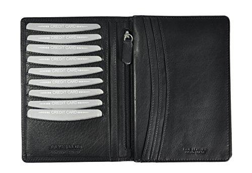 echt Leder Brieftasche Passhülle Etui Kreditkartenetui Hülle Jockey Club Nappaleder mit RFID Schutz