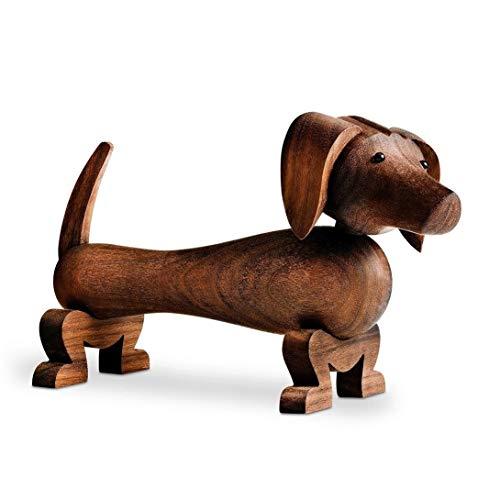 Kay Bojesen Hund aus Holz, kleine Holzfiguren Deko, Elefanten Tier Deko Figur, Holzfiguren Deko