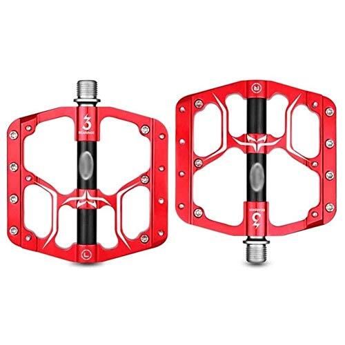 XYXZ Pedales de Plataforma para Bicicleta Pedal de Bicicleta Duradero y a Prueba de Polvo, Bicicleta Plegable de Carretera de montaña Pedal de 3 rodamientos Aleación de Aluminio Pedal antide