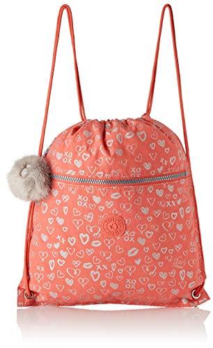 Kipling SUPERTABOO Kinder-Sporttasche, 45 cm, 15 Liter, Hearty Pink Met